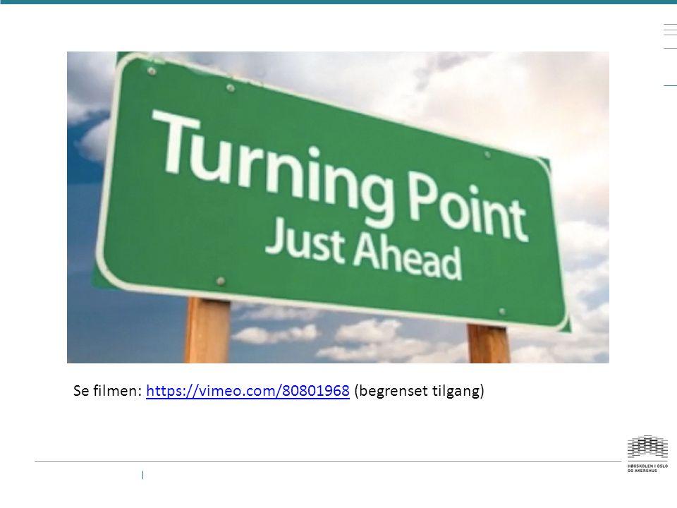 Point of no return Plutselig var ho der igjen Irritasjonsmomentet på trikken – var neste pasient …..