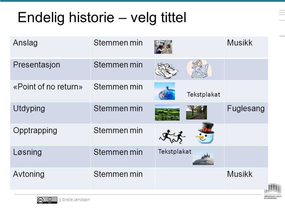 Skriv historien siste versjon -Mens du gjør det -Tenk tittel -Tenk oppbygging -Tenk bilder -Tenk storyboard Grete Jamissen, Kristin Holte Haug, Sissel Langfjord
