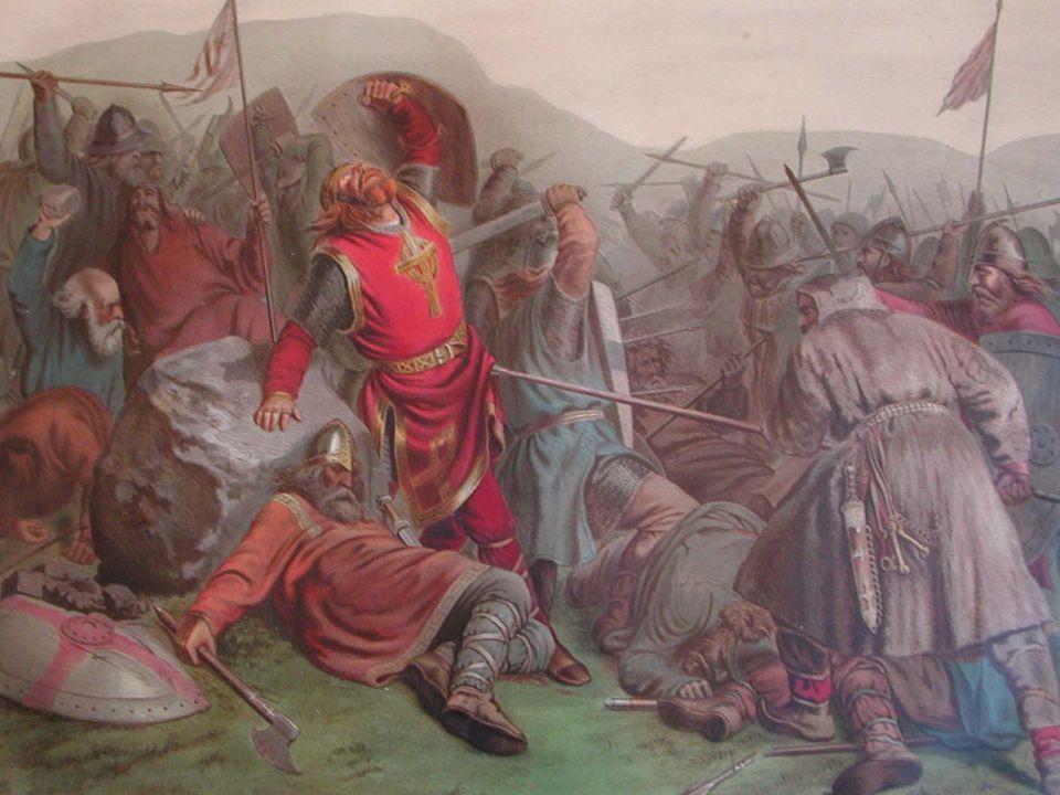  Da danskekongen satte inn sin sønn som konge av Norge, ble han raskt mislikt og Olav Haraldssons sønn Magnus ble hentet til Norge fra Gardarike for å bli ny konge  Etter dette ble det en stabil kongemakt i Norge, mye på grunn av at Olav Haraldsson hadde tatt med seg kristendommen  Han ble senere kalt Olav den hellige
