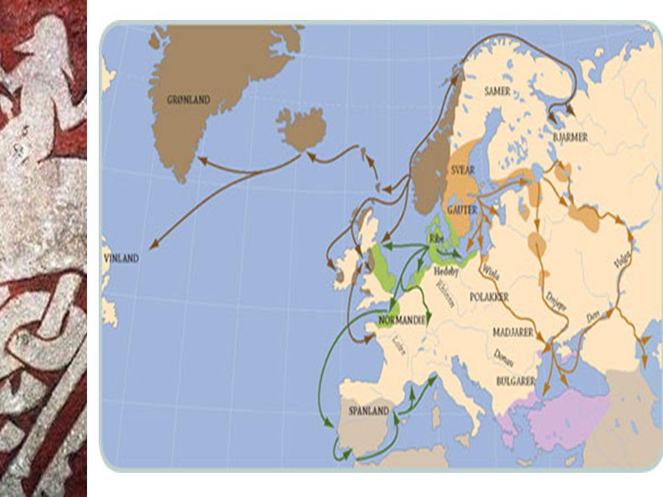 Vikingferdenes 4 faser 1) Begynte med angrepet og plyndringen på klosteret på øya Lindisfarne i 793.