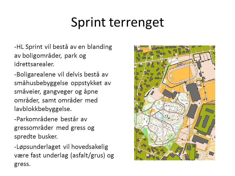 Sprint terrenget -HL Sprint vil bestå av en blanding av boligområder, park og idrettsarealer.