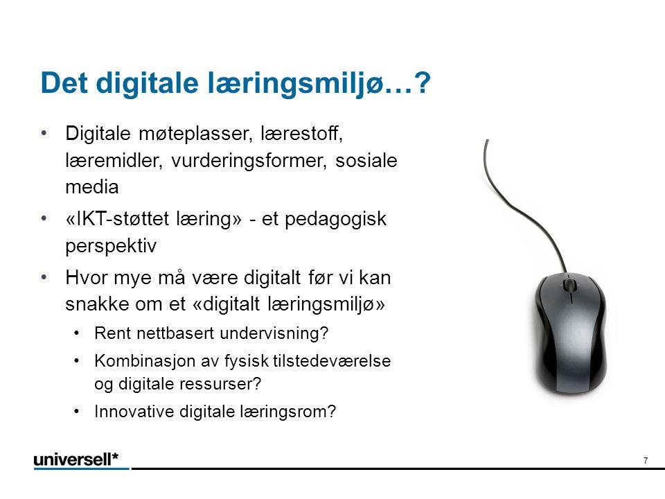 Det digitale læringsmiljø….