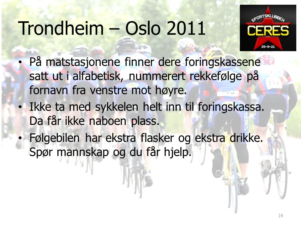 Trondheim – Oslo 2011 15
