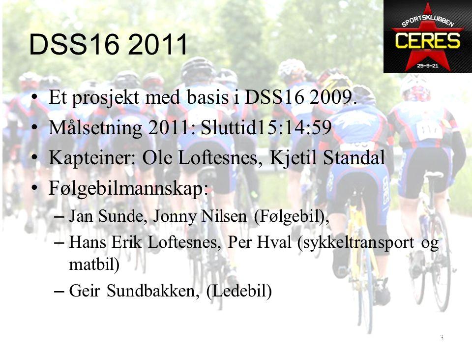DSS16 2011: Hvor står vi.– 2009: 25 ryttere, ca15 arbeidsjern – 2011: Bare arbeidsjern .