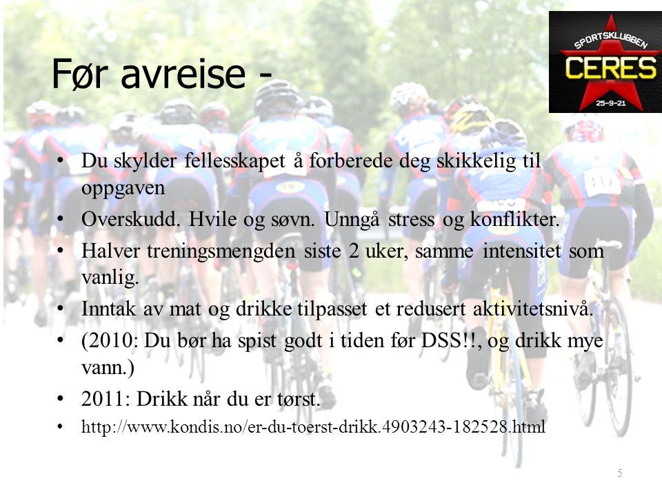 DSS16 2011 I dag: Hva du skal gjøre: 1.Før avreise 2.I Trondheim 3.Underveis Trondheim – Oslo 4.Etter målgang Det vi bestemmer i dag gjelder! Det er v