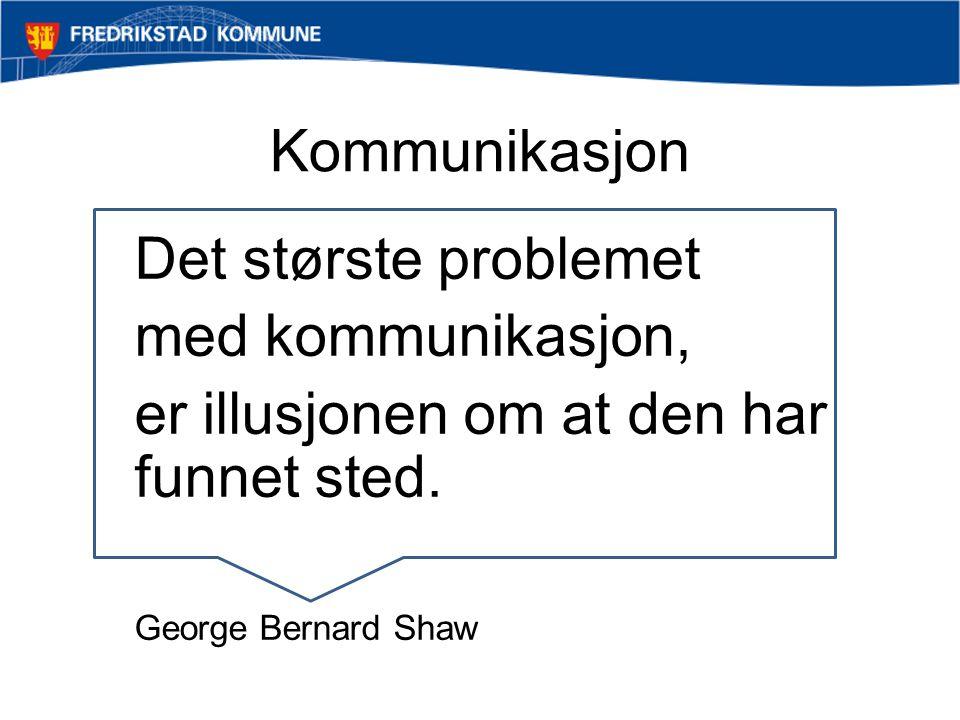 Det største problemet med kommunikasjon, er illusjonen om at den har funnet sted. George Bernard Shaw