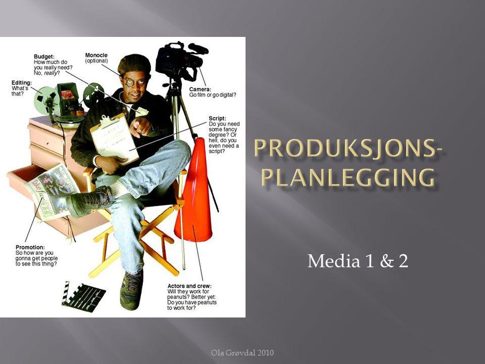1. Tema 2. Målgruppe 3. Valg av medium 4. Innhold 5. Utforming 6. Distribusjon Ola Grøvdal 2010