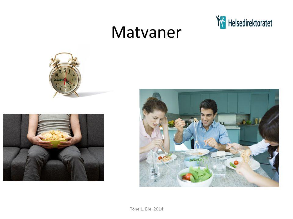 Sunne middager • Kokebok fra Helsedirektoratet: Eksempel: • Kylling • Fisk • Svinekjøtt • Grønnsaksretter • Supper Tone L.