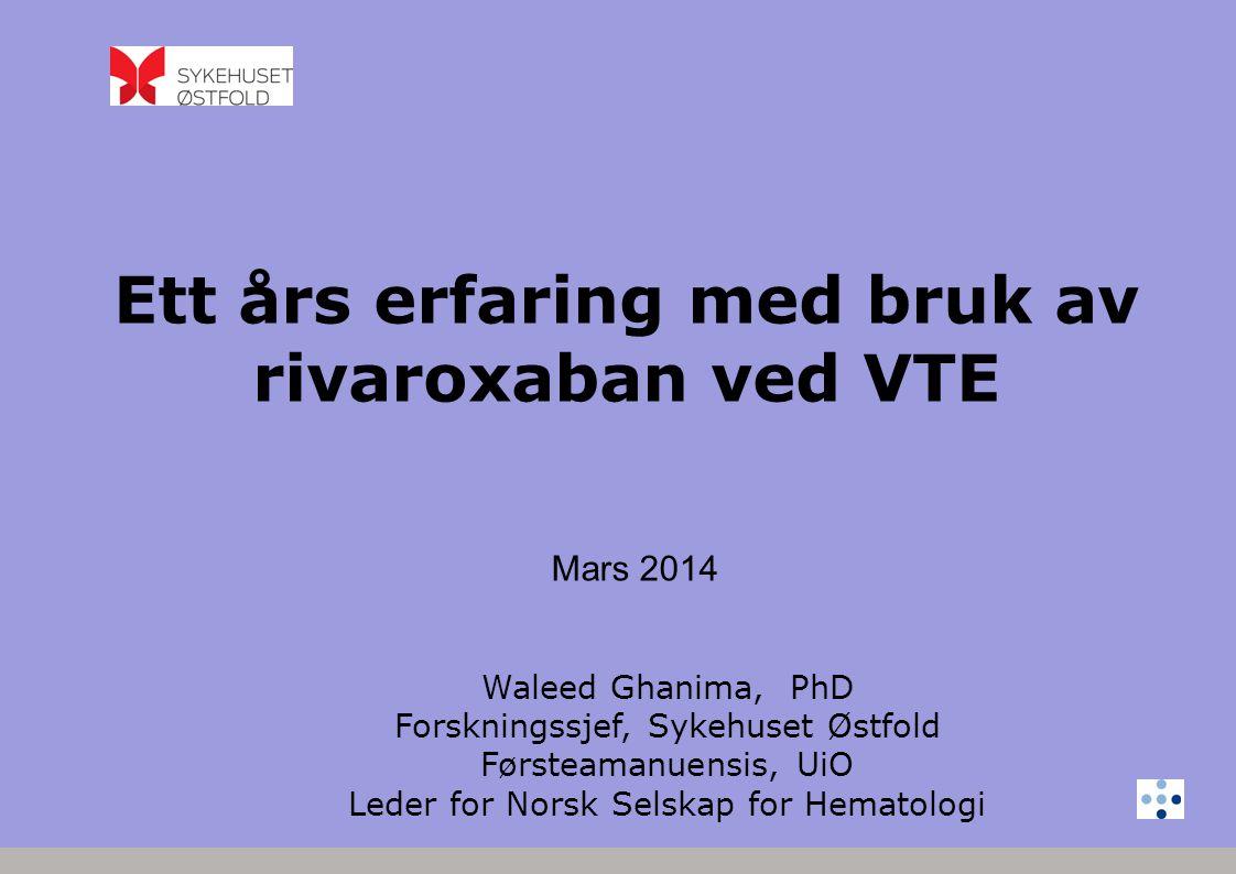 Begrenset kunnskap og erfaring Mangler test for effekt Mangler antidot Utfordringene med NOAK, DOAK, TSOAC!
