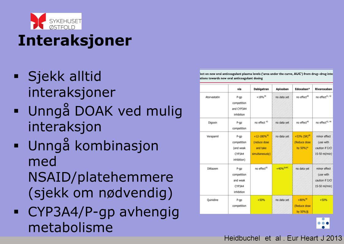 www.legemiddelverket.no  Antibiotika (clarithromycin, erthromycin)  Antiarytmika (verapamil, amiodarone)  Soppmidler (voriconazole, itraconazole)  HIV-midler (protease hemmere)  Antiepileptika (Phenytoin, karbamazepin)