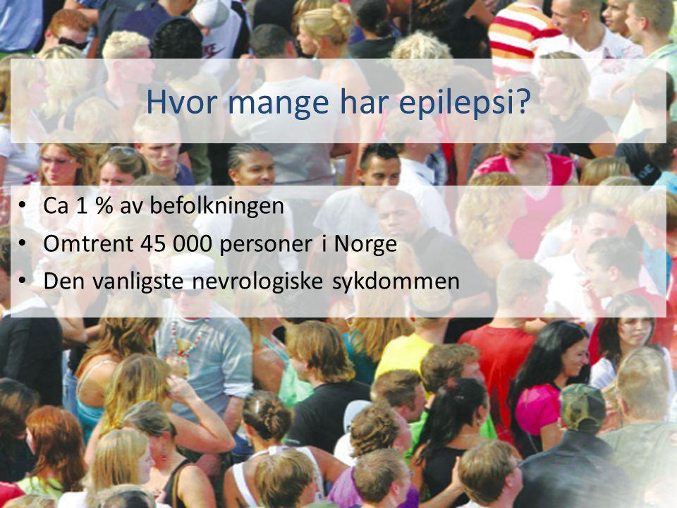 Hvor mange har epilepsi.