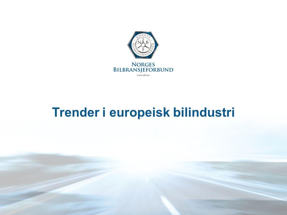 Trender i europeisk bilindustri