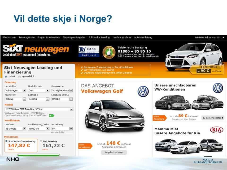Vil dette skje i Norge?