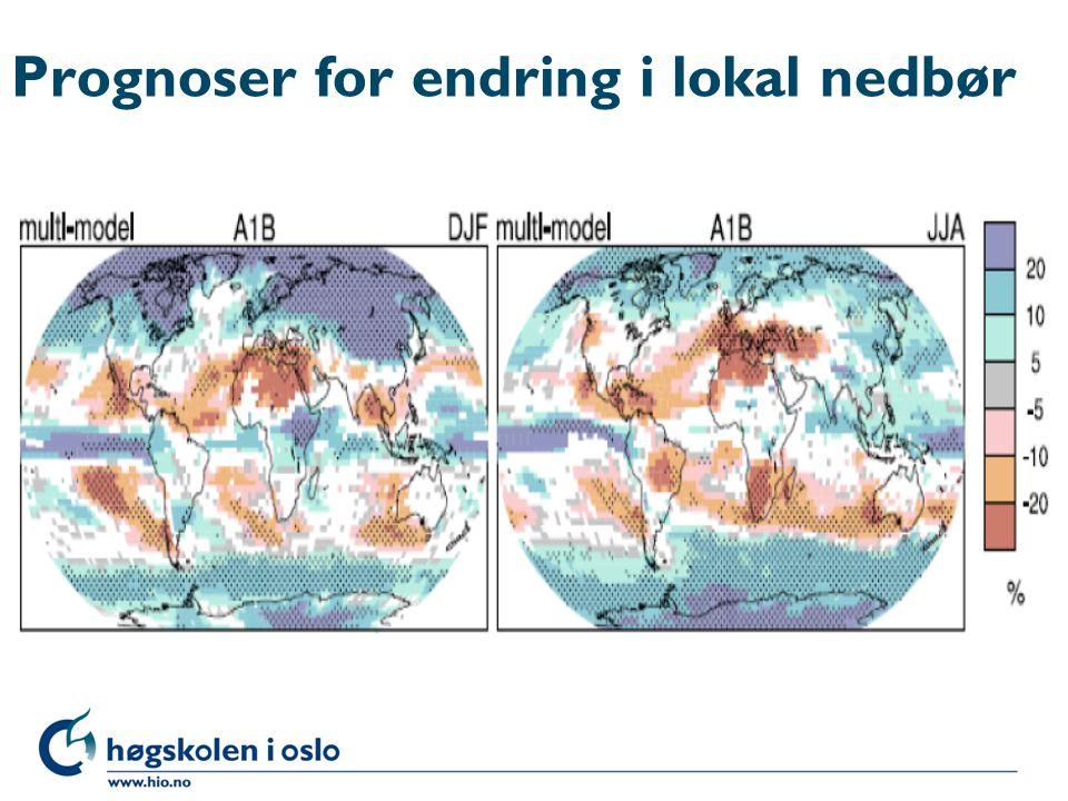 Prognoser for endring i lokal nedbør