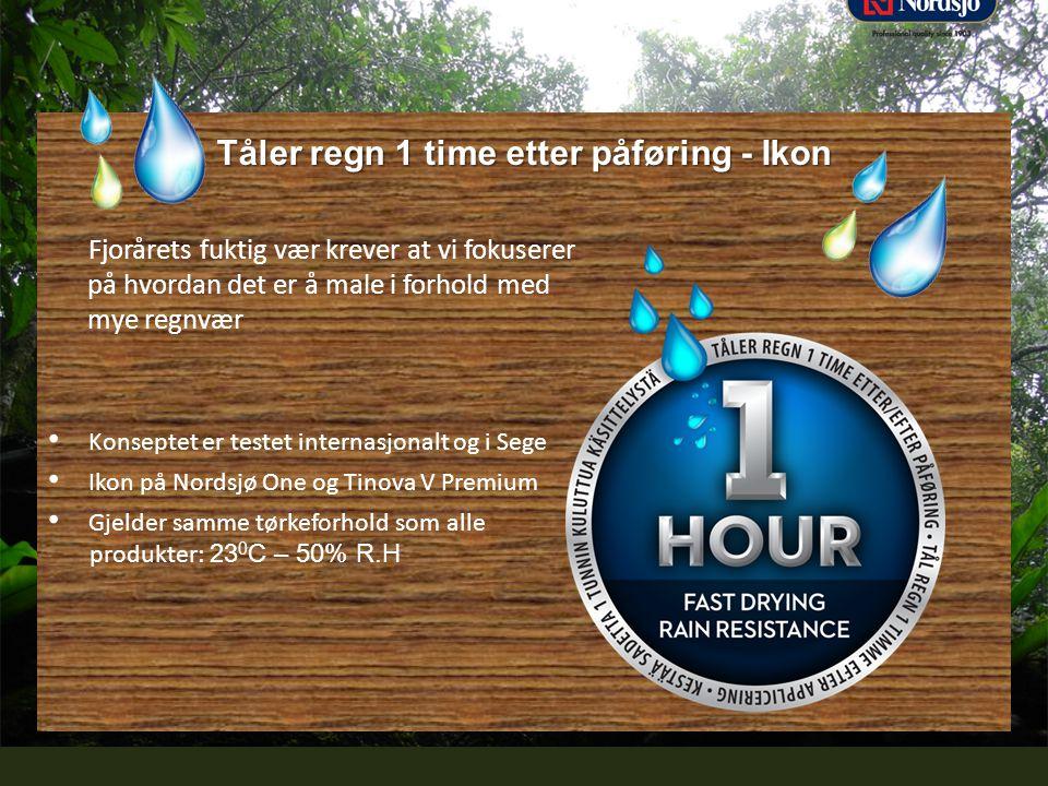 Professional quality since 1903 Tåler regn 1 time etter påføring - Ikon Fjorårets fuktig vær krever at vi fokuserer på hvordan det er å male i forhold