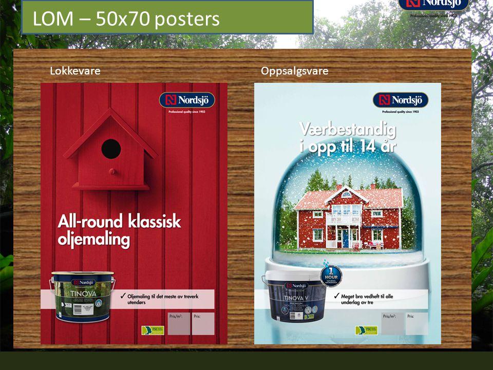 LOM – 50x70 posters Lokkevare Oppsalgsvare
