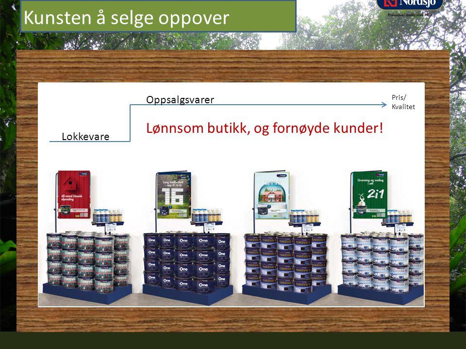 Professional quality since 1903 Kunsten å selge oppover Lønnsom butikk, og fornøyde kunder! Lokkevare Oppsalgsvarer Pris/ Kvalitet
