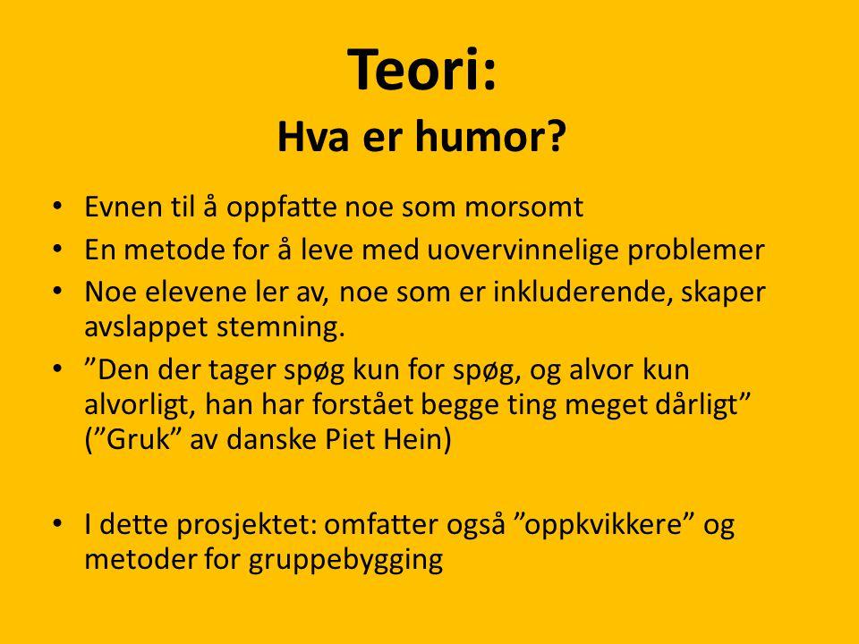Teori: Hva er humor.