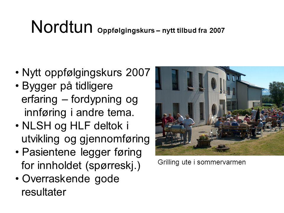 Nordtun Oppfølgingskurs – nytt tilbud fra 2007 • Nytt oppfølgingskurs 2007 • Bygger på tidligere erfaring – fordypning og innføring i andre tema. • NL