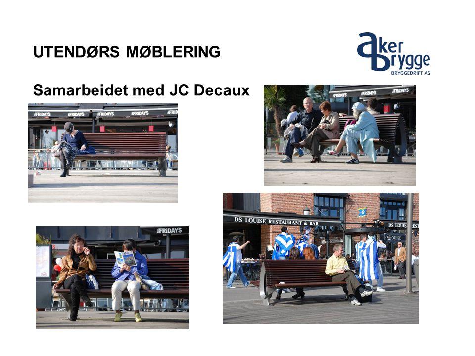 UTENDØRS MØBLERING Samarbeidet med JC Decaux