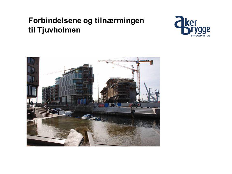 Forbindelsene og tilnærmingen til Tjuvholmen