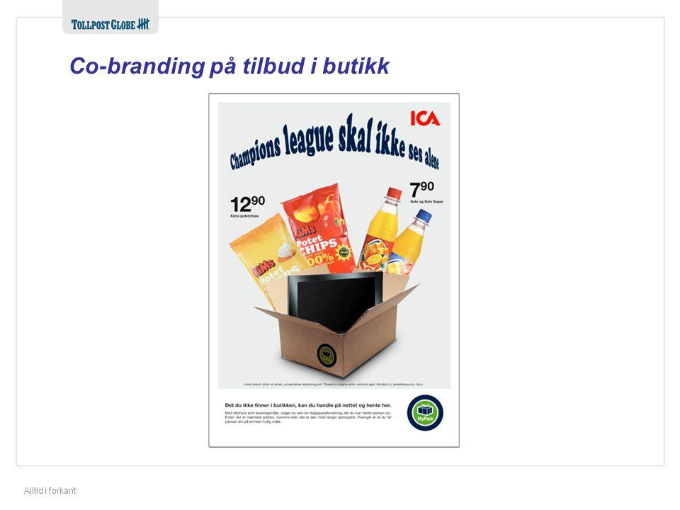 Co-branding på tilbud i butikk