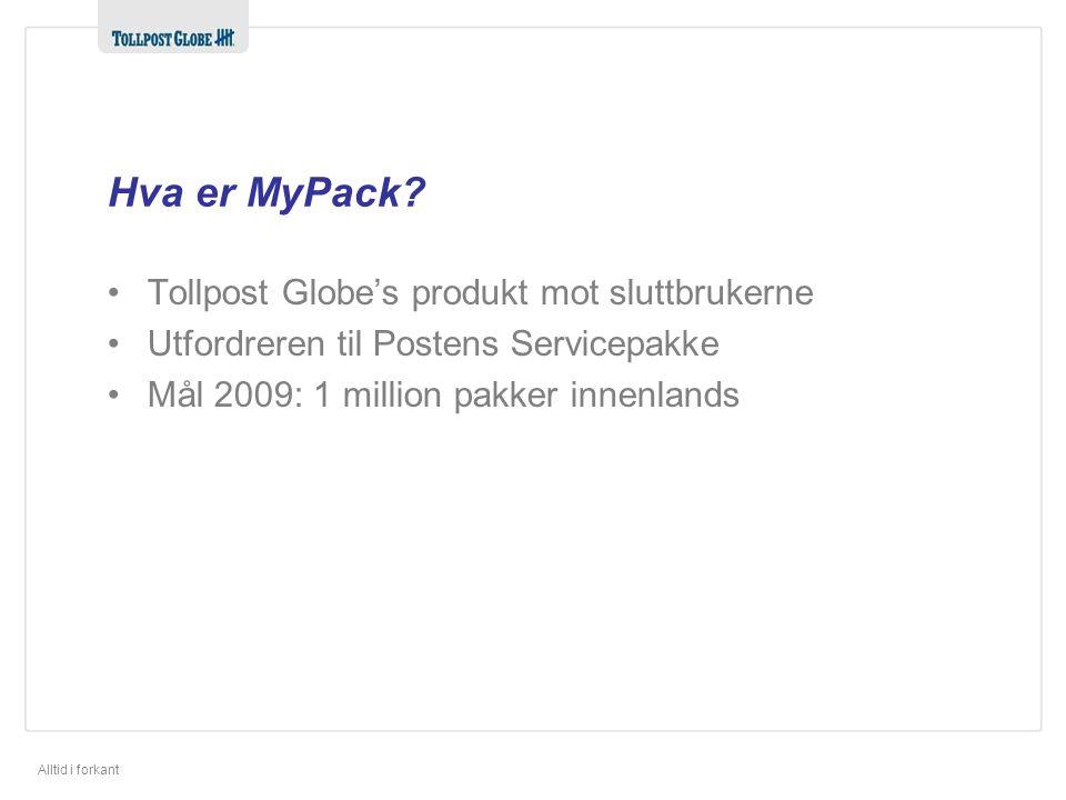 Alltid i forkant Hva er MyPack.