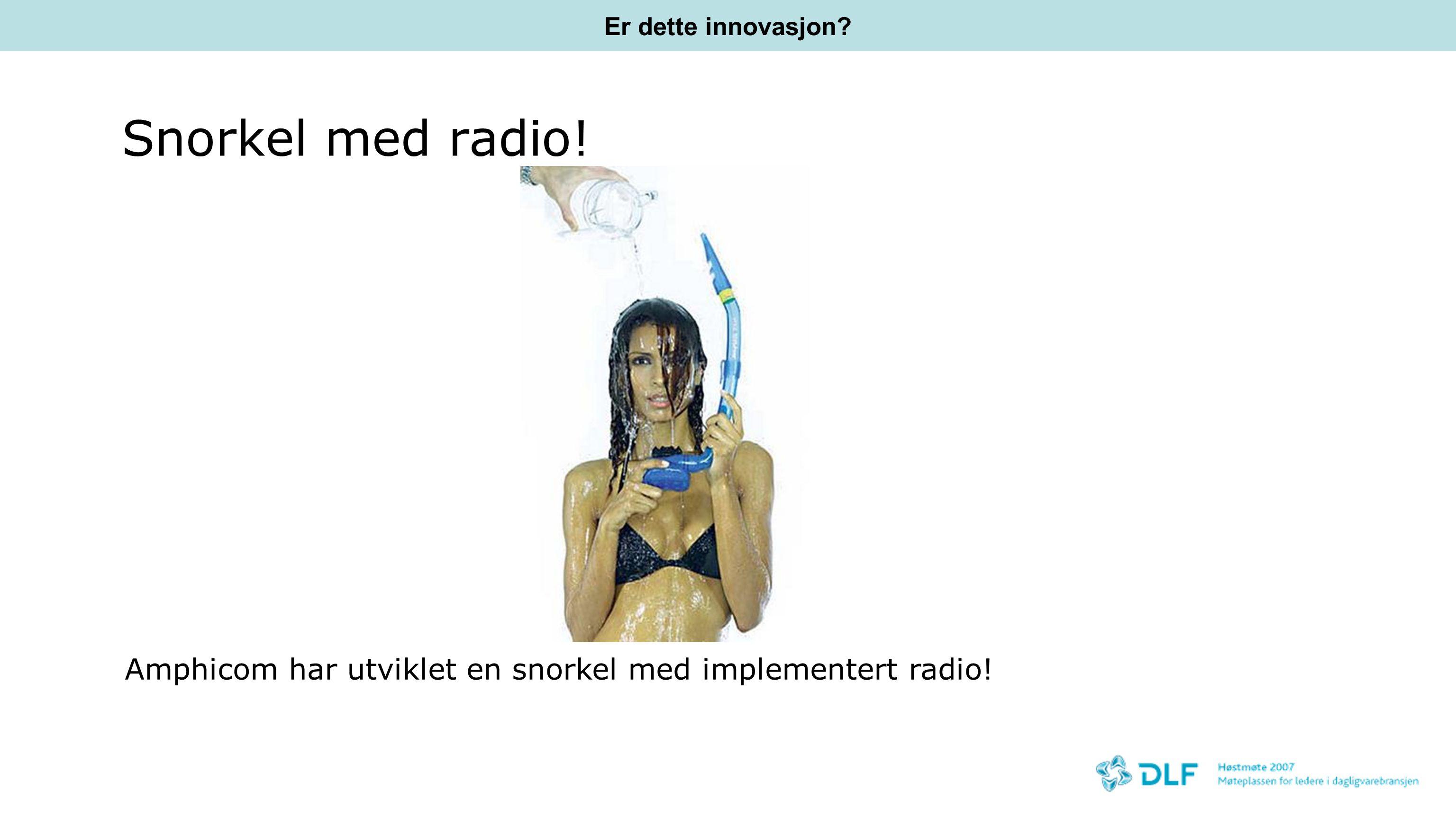 Snorkel med radio! Amphicom har utviklet en snorkel med implementert radio! Er dette innovasjon?