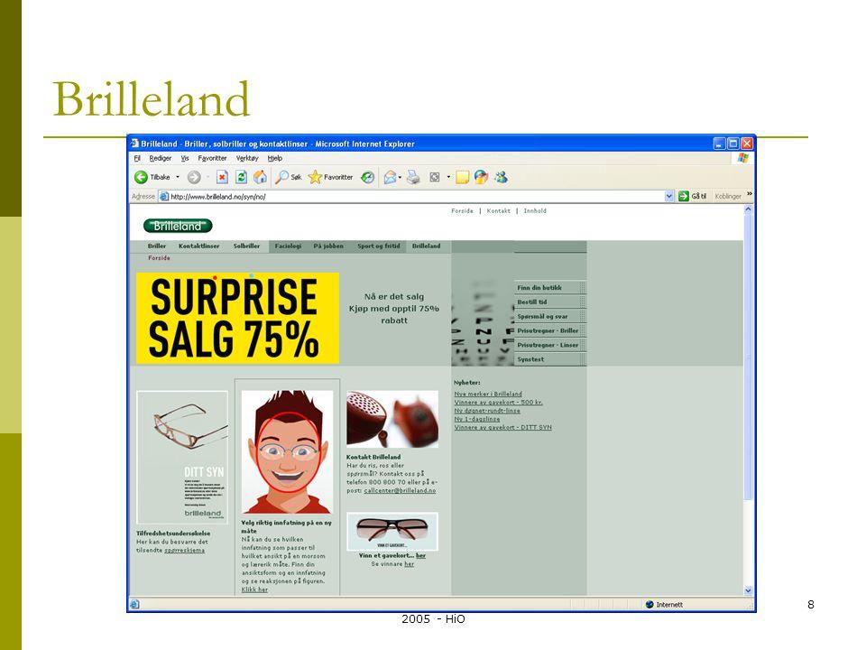Systemutvikling LO135A - Kirsten Ribu 2005 - HiO 8 Brilleland