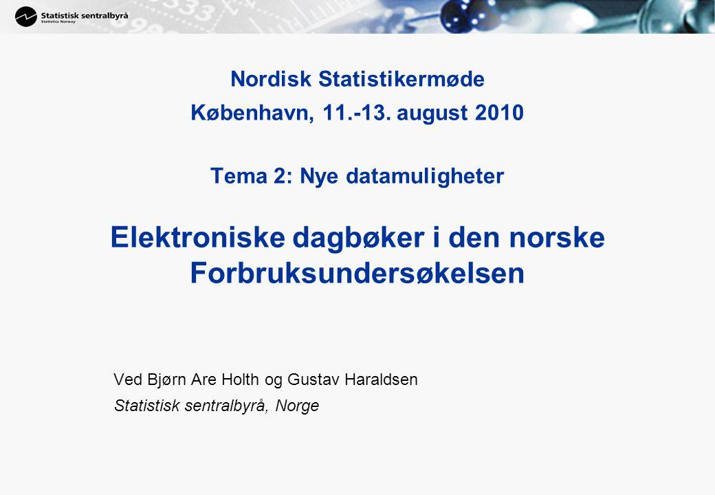 1 Nordisk Statistikermøde København, 11.-13.