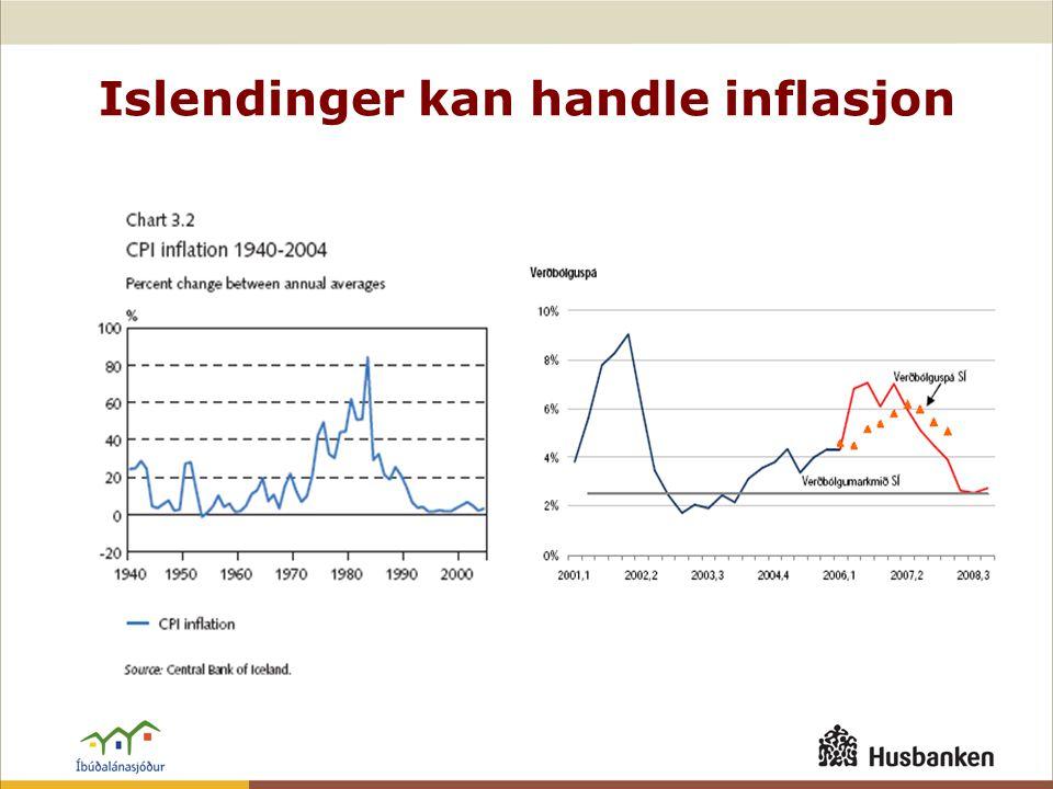 Islendinger kan handle inflasjon