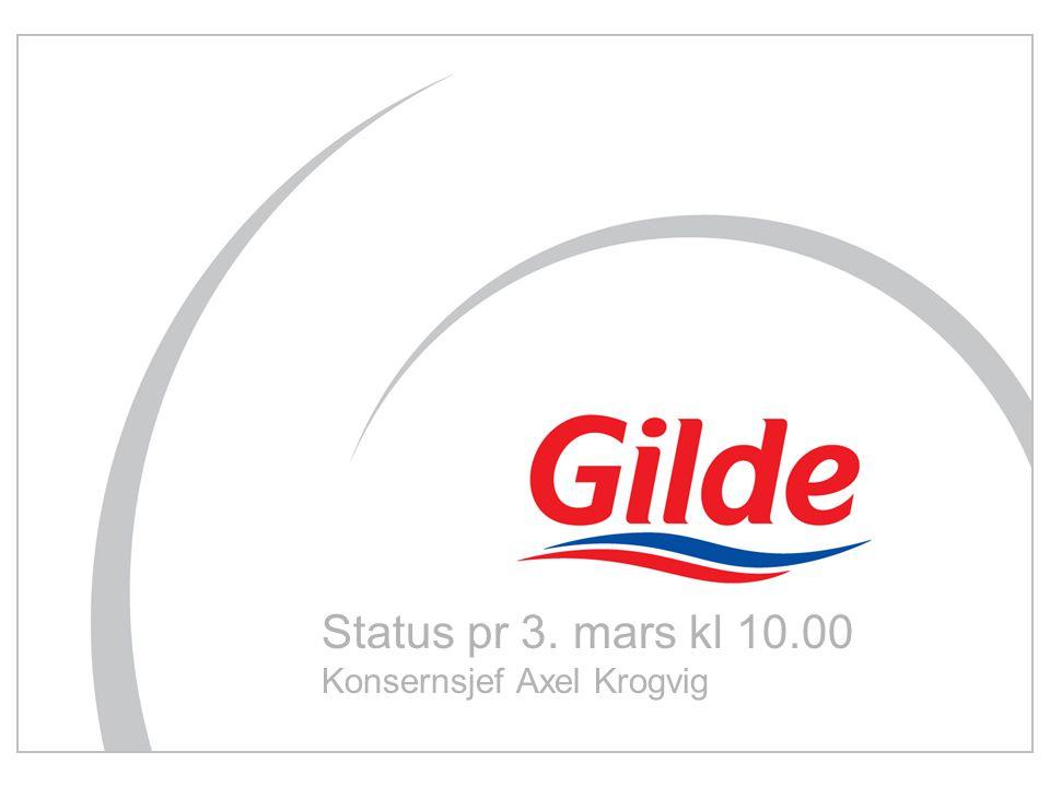 Status pr 3. mars kl 10.00 Konsernsjef Axel Krogvig