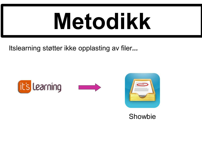 Itslearning støtter ikke opplasting av filer... Metodikk Showbie