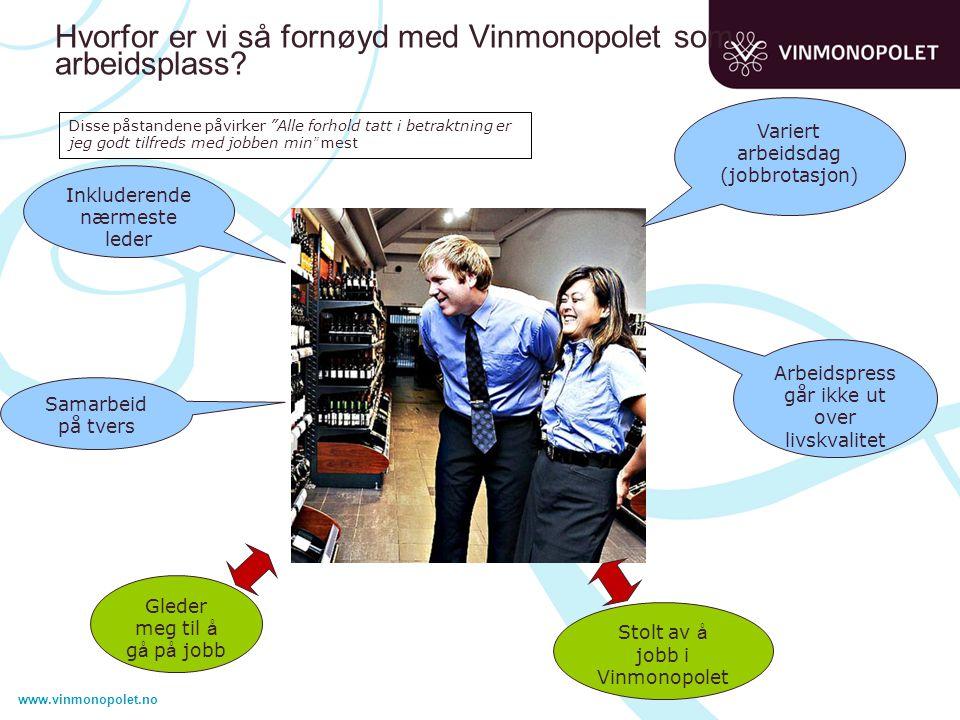 www.vinmonopolet.no Hvorfor er vi så fornøyd med Vinmonopolet som arbeidsplass.