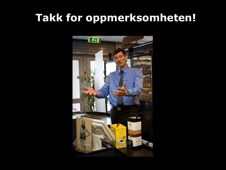 www.vinmonopolet.no •Takk for oppmerksomheten!