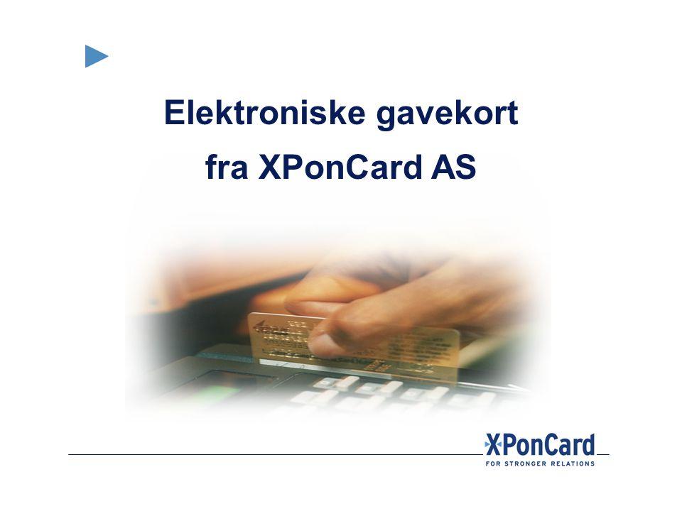 Elektroniske gavekort fra XPonCard AS