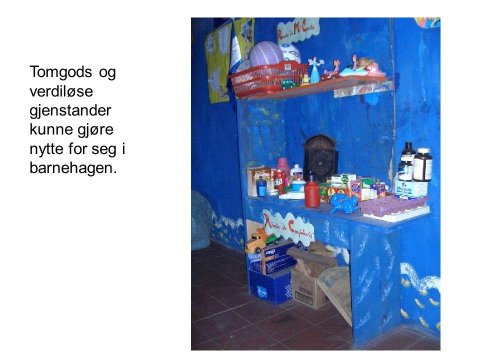 Tomgods og verdiløse gjenstander kunne gjøre nytte for seg i barnehagen.
