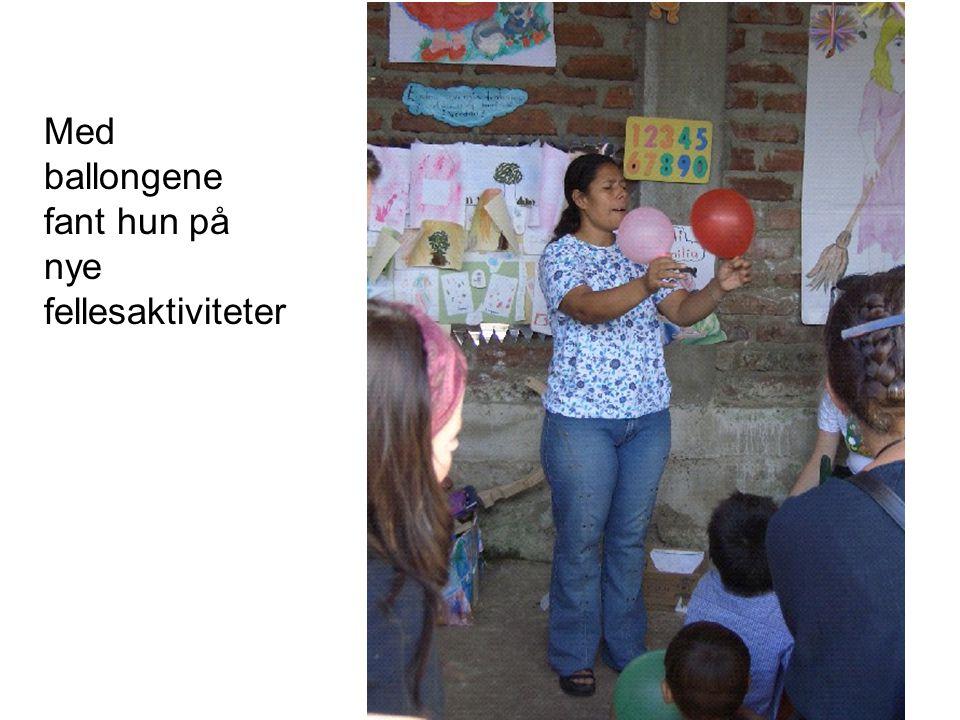 Med ballongene fant hun på nye fellesaktiviteter