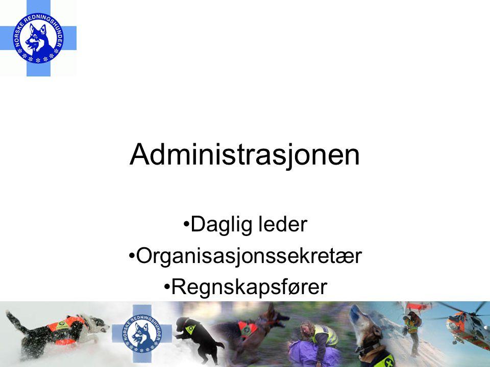 Administrasjonen •Daglig leder •Organisasjonssekretær •Regnskapsfører
