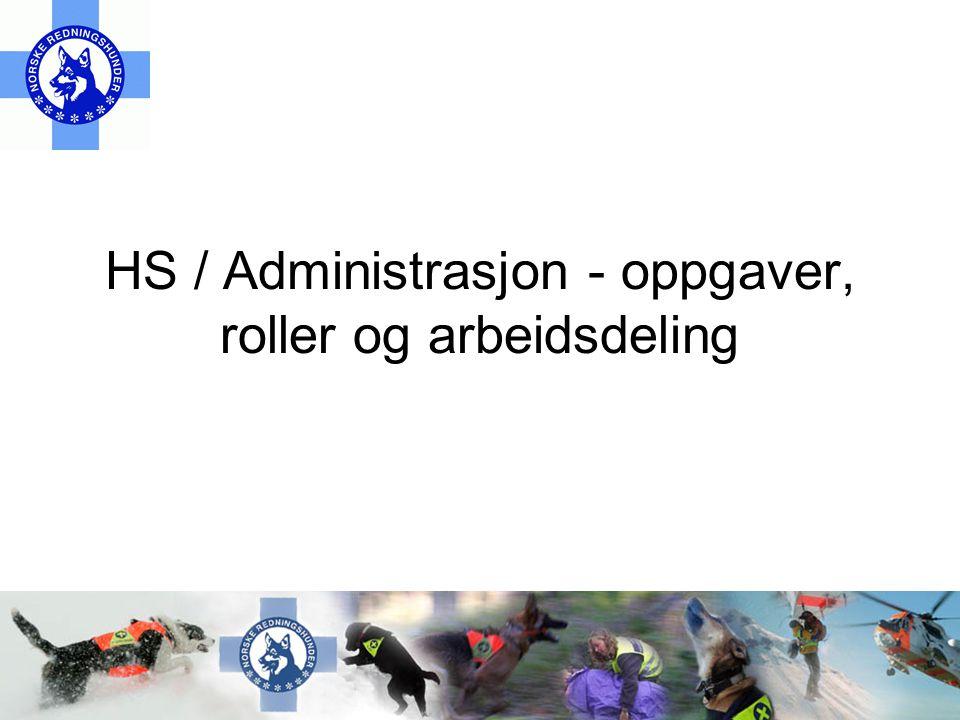HS / Administrasjon - oppgaver, roller og arbeidsdeling
