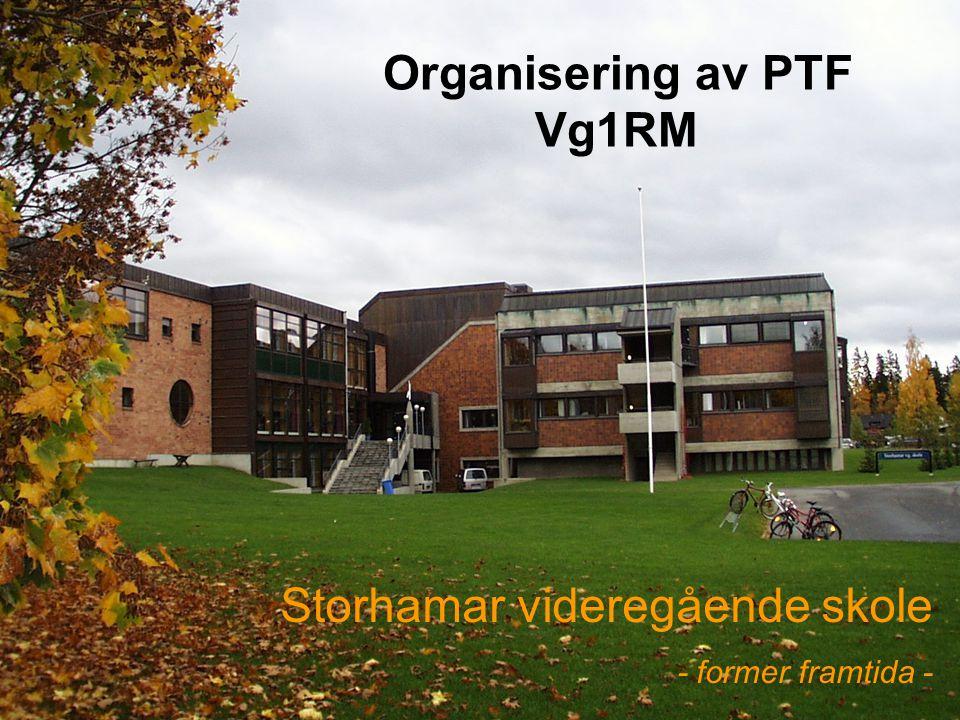 Storhamar videregående skole - former framtida - Organisering av PTF Vg1RM