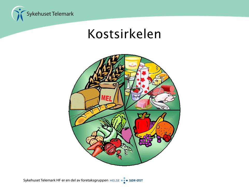 •Frukt og grønnsaker –Mye vitaminer, mineraler, fiber - lite fett og sukker –Barn – 500g –Voksne 750 g •Hvordan få i oss nok.