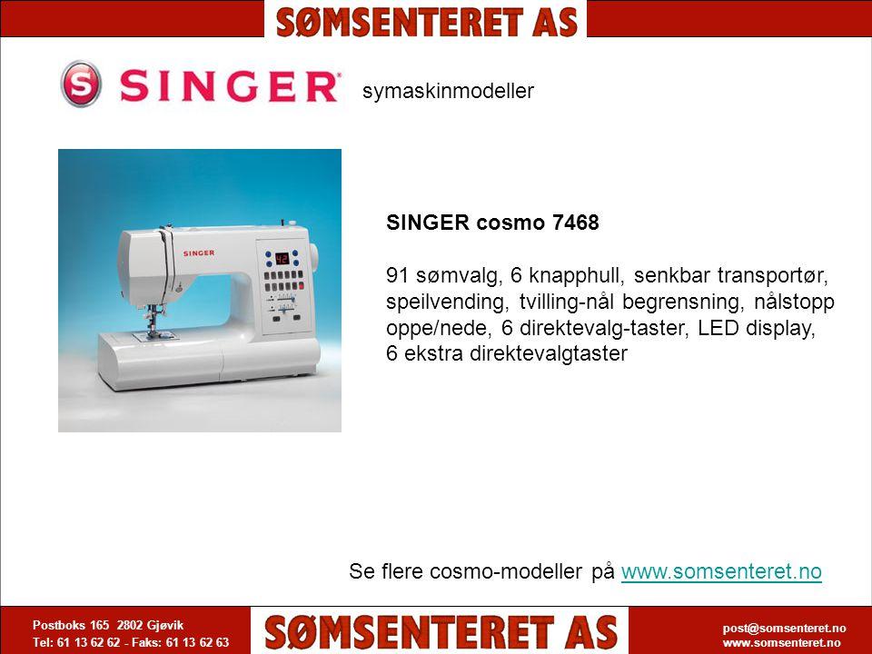 post@somsenteret.no www.somsenteret.no Postboks 165 2802 Gjøvik Tel: 61 13 62 62 - Faks: 61 13 62 63 post@somsenteret.no www.somsenteret.no symaskinmo