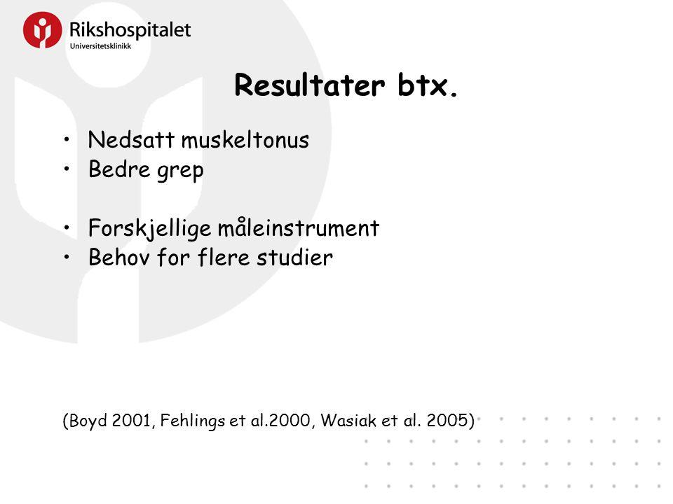 Resultater btx.
