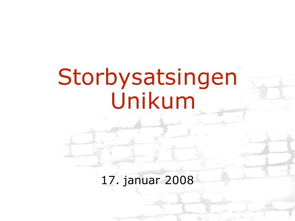 Storbysatsingen Unikum 17. januar 2008