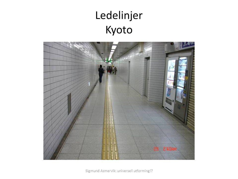 Ledelinjer Kyoto Sigmund Asmervik: universell utforming!?