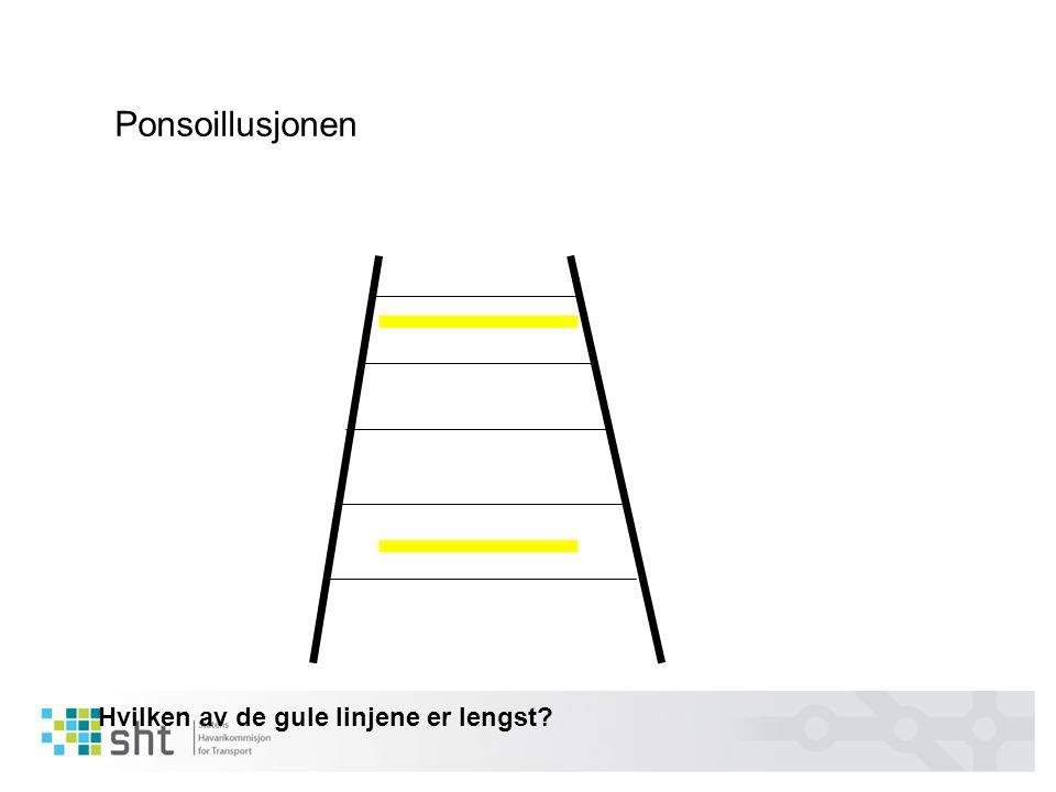 Ponsoillusjonen Hvilken av de gule linjene er lengst?