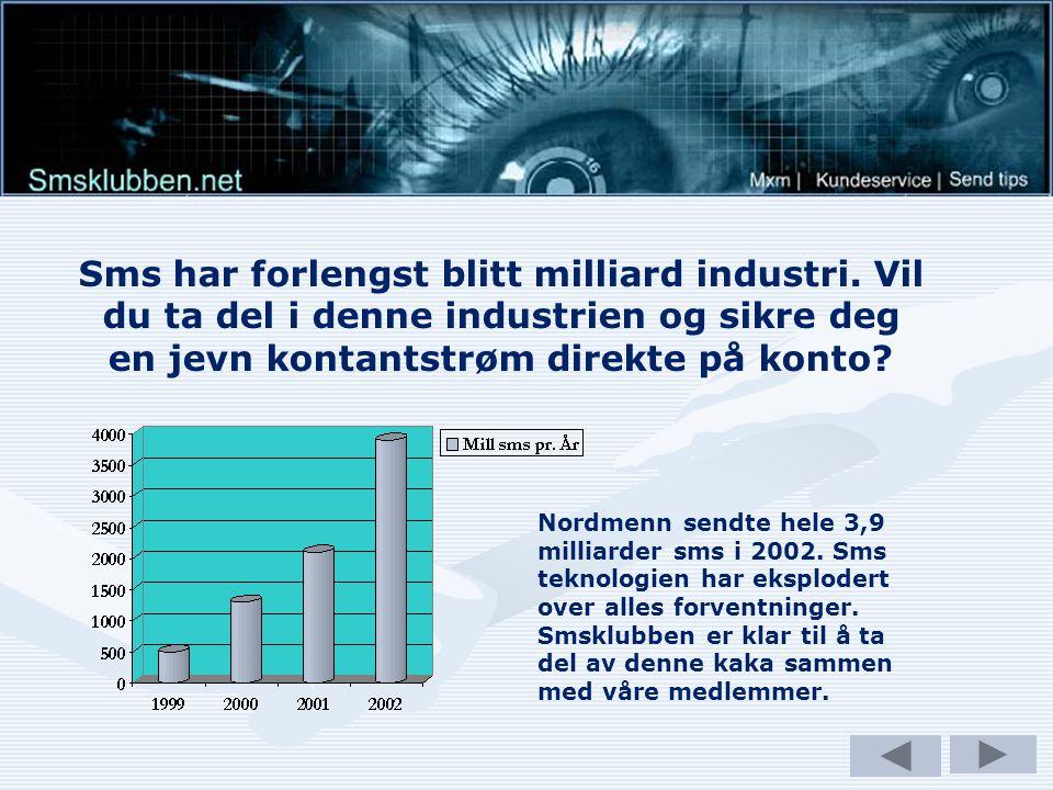 Sms har forlengst blitt milliard industri.