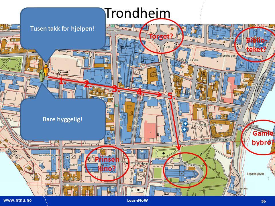 LearnNoW Trondheim 36 Unnskyld, jeg finner ikke Nidarosdomen.