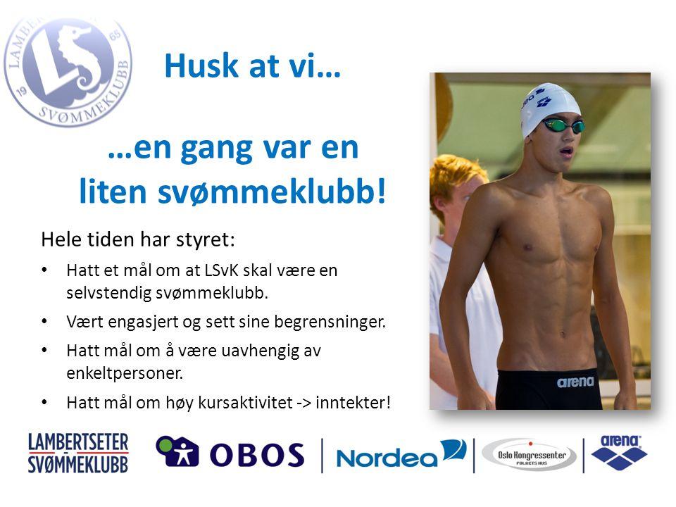 Hele tiden har styret: • Hatt et mål om at LSvK skal være en selvstendig svømmeklubb.